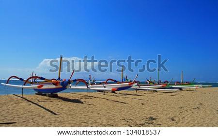 Bateau traditionnel balinais - stock photo