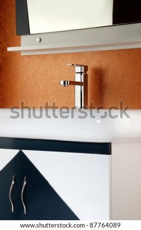 bath faucet - stock photo
