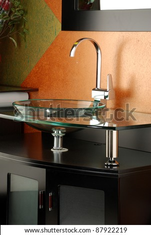 bath faucets - stock photo