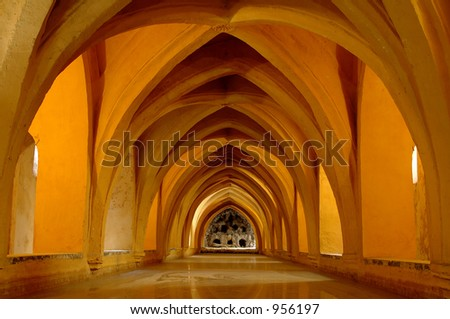 bath house in spain - stock photo