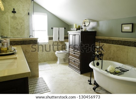 Bath room Interior Home Architecture Stock Images, Photos of Living room, Dining Room, Bathroom, Kitchen, Bed room, Office, Interior photography. - stock photo