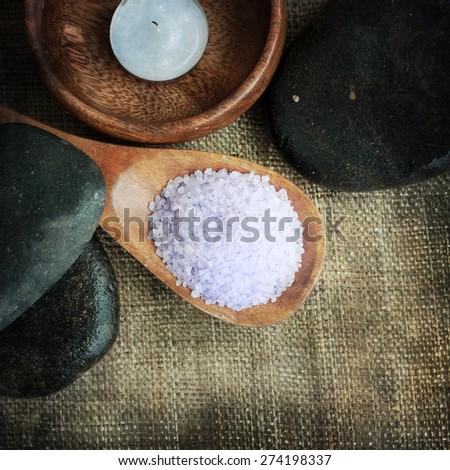 Bath spa setting - stock photo