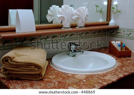 bath tub - Wash room - stock photo