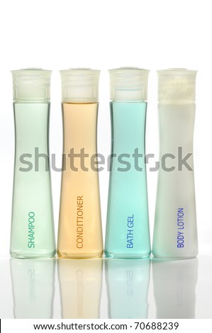 Bathroom cosmetics set - stock photo