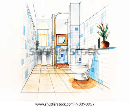 Pencil Sketch Of A Room Stock Photos Images Pictures Shutterstock
