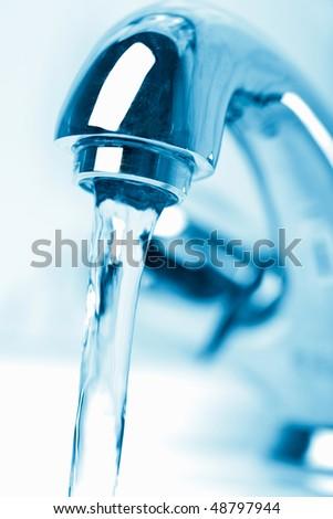 bathroom faucet - stock photo