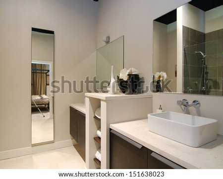 bathroom home design - stock photo