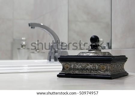 Bathroom in the hotel - stock photo