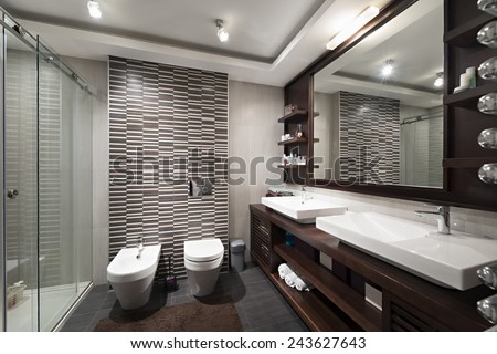 Bathroom interior  - stock photo