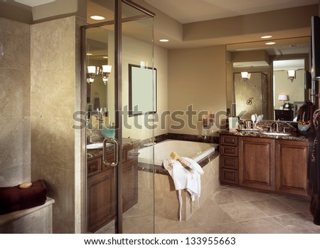 Bathroom Interior Design - stock photo