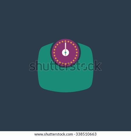 Bathroom scale. Colored simple icon. Flat retro color modern illustration symbol - stock photo