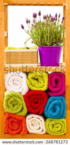 Bathroom shelves - stock photo