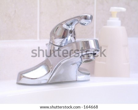Bathroom Sink - stock photo