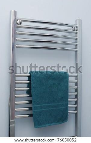 Bathroom towel rail - stock photo