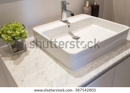 bathroom wash basin - stock photo