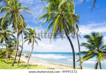 Bathsheba; East coast of Barbados; Caribbean - stock photo