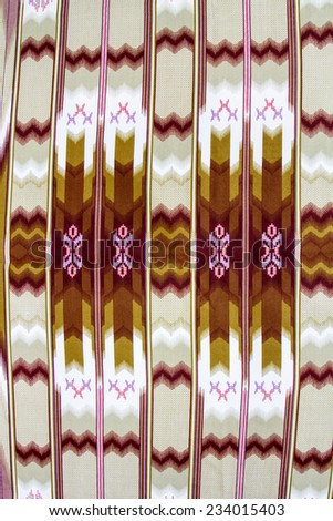 Batik design in Thailand for traditional clothes. Colourful RGB tone background and table style. For creator design illustrator. - stock photo
