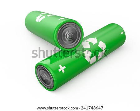 Batteries recycle - stock photo