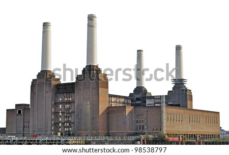 Battersea Power Station in London - stock photo