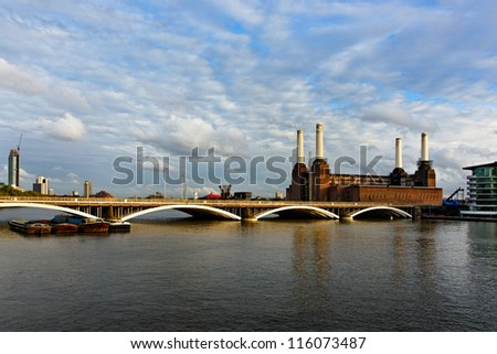 Battersea power station in London, England, UK - stock photo