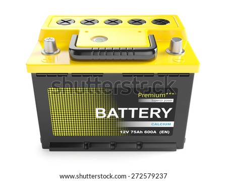 battery batteries accumulator car auto parts electrical supply power isolated 12v - stock photo