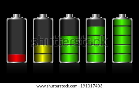 Battery charge status - stock photo