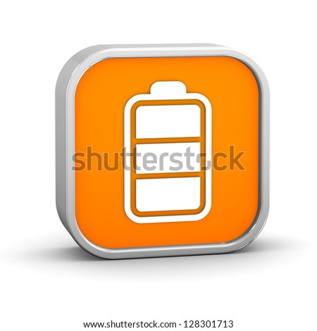 Battery charge status. Part of a series. - stock photo