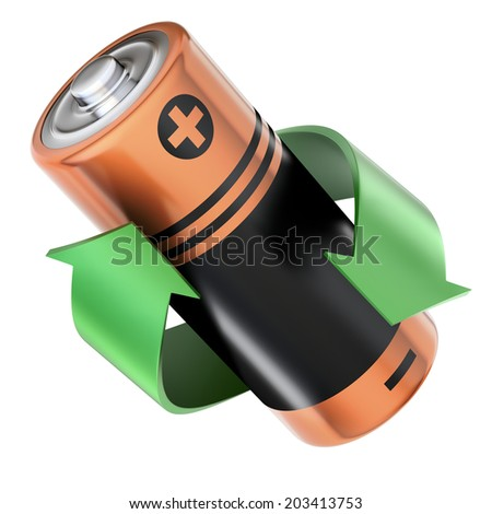 Battery recycling concept - stock photo