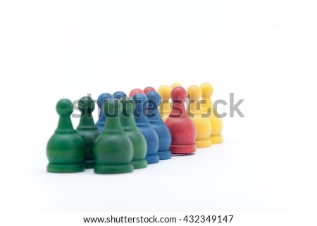 Battle chess on the white background, Little chess - stock photo