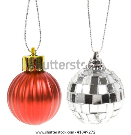 bauble  isolated on white background - stock photo