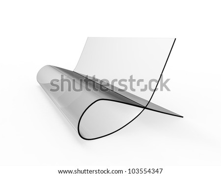 Bauhaus Style Chair on a white background - stock photo