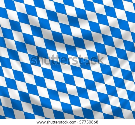 Bavarian Flag - stock photo