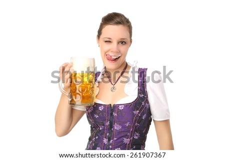 Bavarian Girl - stock photo
