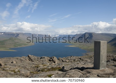 Bay Arnarfjordur in Westside of Iceland - stock photo