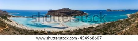 Bay Balos. The west coast of the peninsula Gramvousa. The island of Crete. Greece. - stock photo