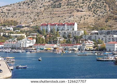bay in Balaklava. Crimea. - stock photo