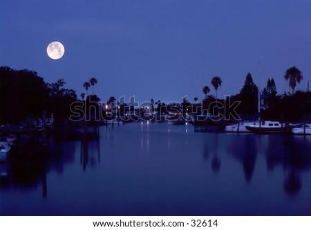 Bay Moonlight   - stock photo