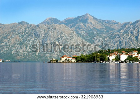 Bay of Kotor, Montenegro. Kotor. Old town view. Adriatic sea - stock photo
