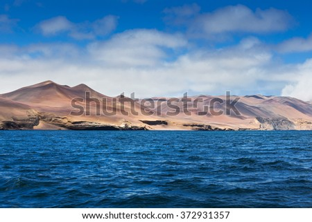 bay of the Pacific Ocean on a sunny day - stock photo