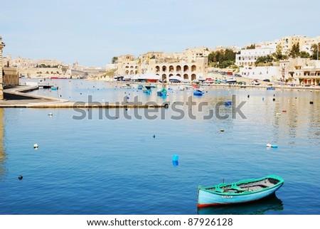 Bay port in Valetta - stock photo