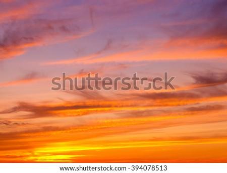 Bay View Setting Sun  - stock photo