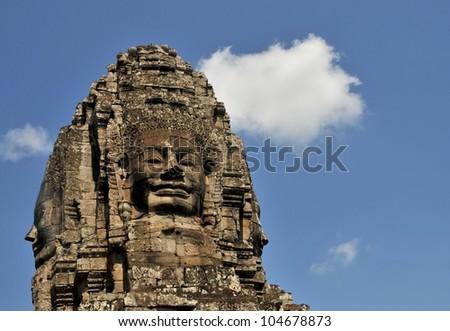 Bayon, Angkor Thom, Seim Reap, Cambodia - stock photo
