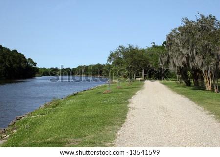 Bayou Petite Anse in Avery Island Louisiana - stock photo