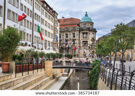 BAYREUTH, GERMANY - CIRCA JULY 2012: City during the Richard-Wagner-Festival in Bayreut, Germany on July, 2012. - stock photo