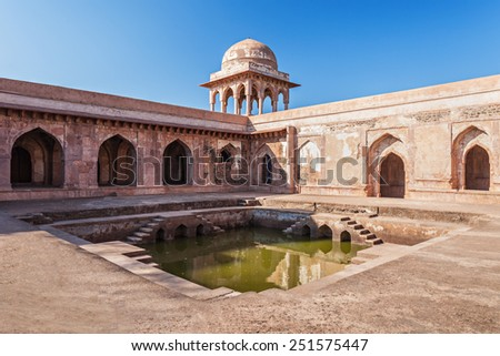 Baz Bahadur Palace in Mandu, Madhya Pradesh, India - stock photo