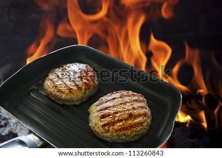 BBQ burger - stock photo