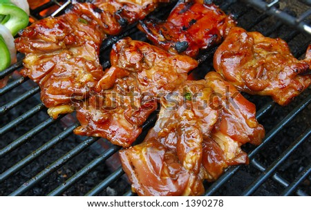 BBQ of meat - stock photo