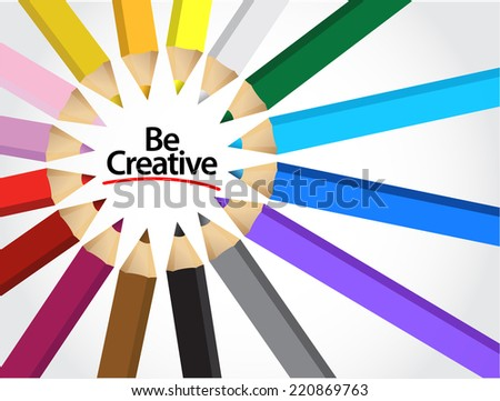 be creative colors illustration design over a white background - stock photo