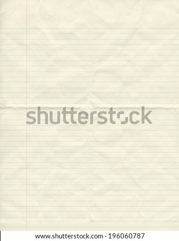 be crumpled vintage paper lined   - stock photo