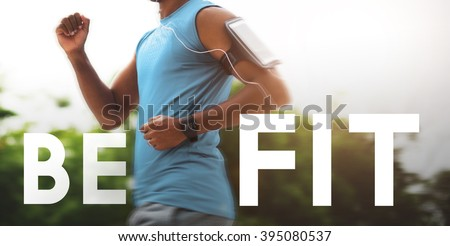 Be Fit Healthy Physical Workout Training Activity Concept - stock photo
